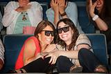 Scared Friends in Theater Seats