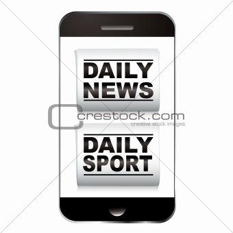 Smart phone sport news
