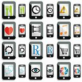 touchscreen gadget icons