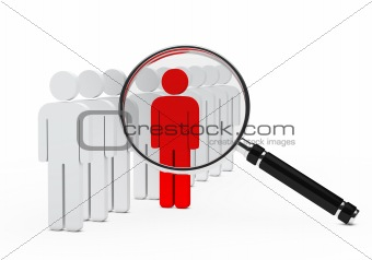 leader magnifying glass