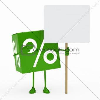 green sale cube billboard
