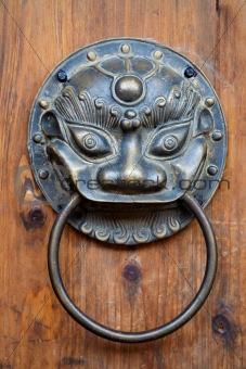 Chinese unicorn door knob