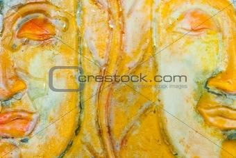 Molding art created from wax