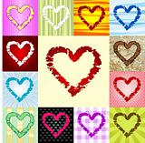 rough heart pattern