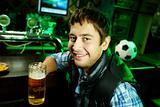 Guy at sport bar