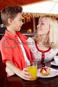 Together at cafe