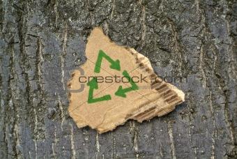 Cardboard recycling symbol