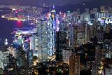 Hong Kong in night