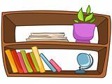 Cartoon Home Furniture Book Shelf
