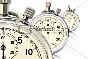 Three mechanical stopwatch