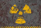 Vector grunge illustration of radiation sign