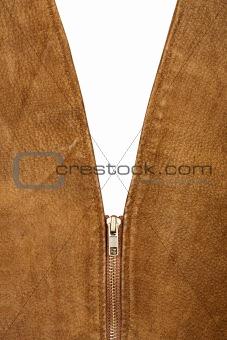 Fragment of suede vest