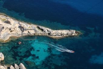 Turquoise Water in Ibiza Island (Atlantis Beach)