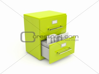 Green archive cabinet icon