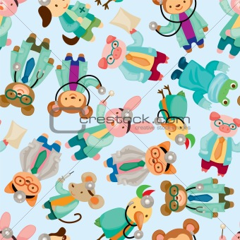 animal doctor seamless pattern
