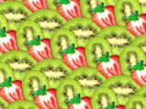 background of fresh kiwi and strawberry slices
