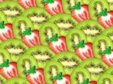background of fresh kiwi and strawberry slices