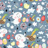 pattern of Easter bunnies