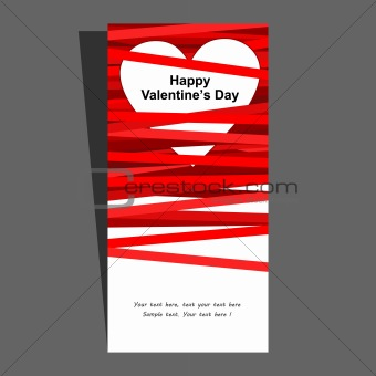 Valentine's card. Vector illustration.