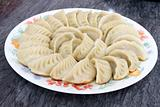 Plate of Potstickers Chinese Dumplings