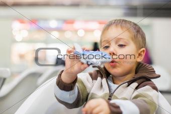 Little Boy Toy Airplane