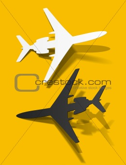 airplane sticker, realistic design elements