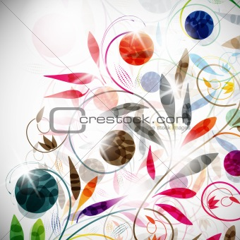floral background, vector abstract background