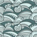 vector seamless pattern with ethnic sea ornament