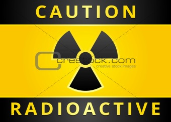 Label caution sign. Radiation Hazard symbol
