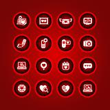 Set valentine's day icons, love on the Internet signs