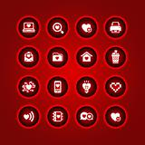 Set valentine&#39;s day icons, love on the Internet symbols