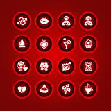 Set valentine&#39;s day icons, love romantic symbols