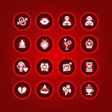 Set valentine's day icons, love romantic symbols