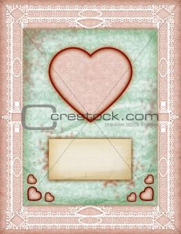 Valentine day Love Cards, Vintage Love Notes