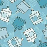 Water bottle seamless pattern