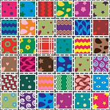 vector patchwork fabric art background