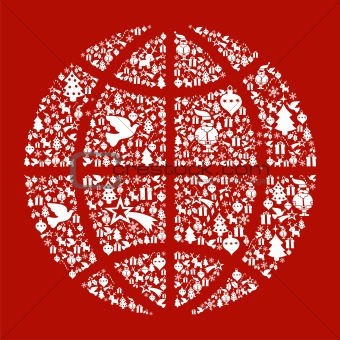 Christmas globe map concept