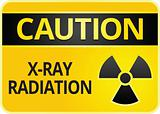 Label caution symbol. Radiation Hazard sign