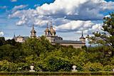 San Lorenzo de El Escorial Monastery Spires , Spain on a Sunny D