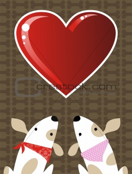 Valentines dog love background