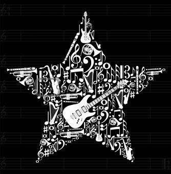 Music star background
