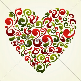 Valentines vintage love heart background