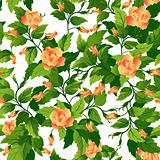 Seamless background with orange roses