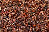 Cocoa nibs texture