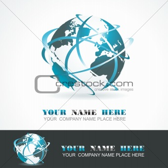 Sphere 3d design. Vector symbol.