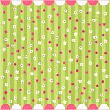 Seamless floral pattern, baby card