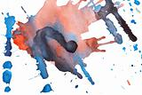 Abstract watercolor blots