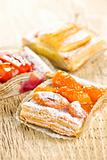 Pieces of fruit strudel
