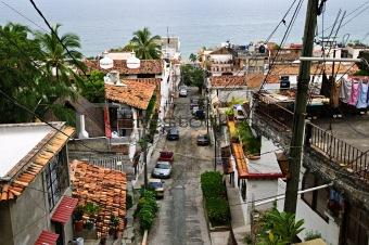 City street in Puerto Vallarta, Mexico