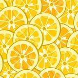 Seamless lemon orange background
